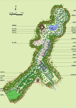 重点区域规划总平面图